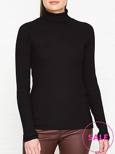 sofie-schnoor-knitted-roll-neck-jumper-black