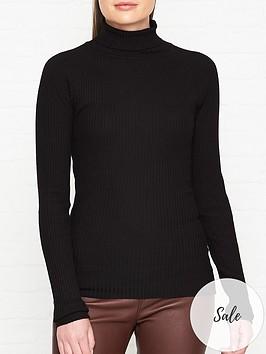 sofie-schnoor-knitted-roll-neck-jumper-black