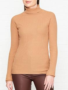 sofie-schnoor-knitted-roll-neck-jumper-camel