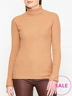 sofie-schnoor-knitted-roll-neck-jumper-camel