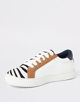 river-island-girls-zebra-print-lace-up-plimpsolls-white