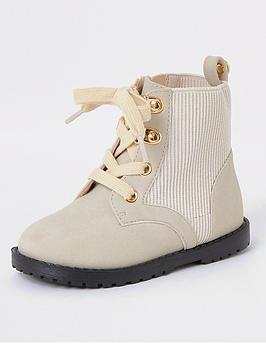 river-island-mini-mini-girls-ribbed-ankle-boots-cream