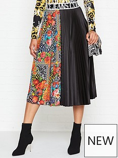 versace-jeans-couture-optical-flower-pleated-skirt-multicolour