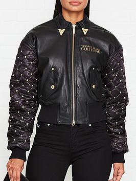 versace-jeans-couture-studded-detail-leather-bomber-jacket-black