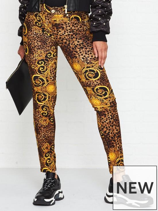 eb4b72c89c Leopard Baroque Skinny Jeans - Gold