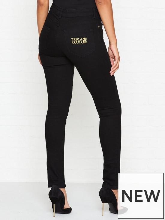 3daf8a59 Logo Mid Rise Skinny Jeans - Black