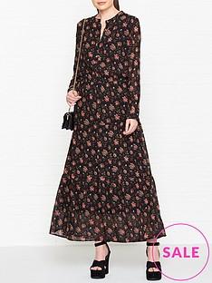 sofie-schnoor-floral-maxi-dress-black