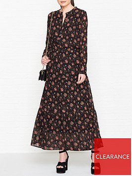 sofie-schnoor-floral-maxi-dress-black