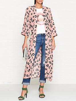 sofie-schnoor-animal-print-kimono-pink