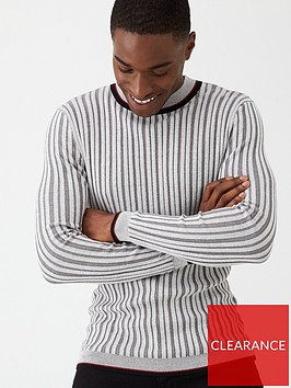 v-by-very-ribbed-tipped-crew-jumper-grey