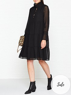 sofie-schnoor-spotted-mini-dress-black