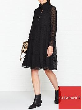 sofie-schnoor-spotted-mini-dress-black