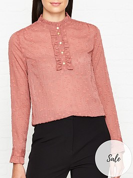 sofie-schnoor-spotted-ruffle-blouse-pink