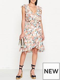 sofie-schnoor-frilled-v-neck-midi-dress-floral