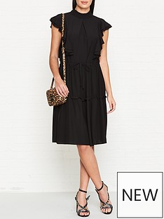 sofie-schnoor-frilled-midi-dress-black