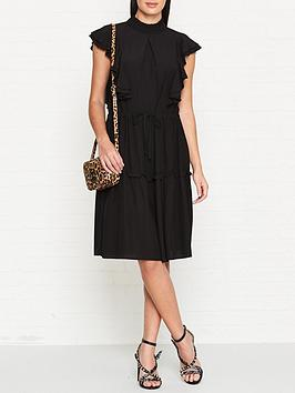 sofie-schnoor-frilled-midi-dress-black