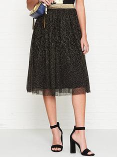 sofie-schnoor-glitter-mesh-midi-skirt-blackgold