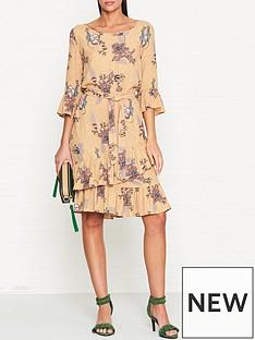 sofie-schnoor-floral-print-tiered-frill-dress--nbsptan