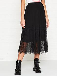 sofie-schnoor-pleated-lace-trimmed-midi-skirt-black