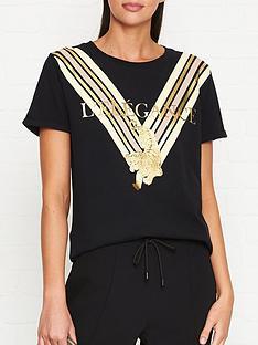 sofie-schnoor-metallic-tiger-print-t-shirt-black