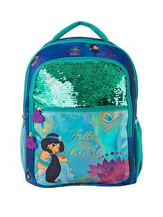disney-aladdin-jasmine-premium-sequin-panel-backpack-and-flying-carpet-set