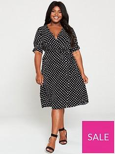 v-by-very-curve-wrap-midi-dress-multi