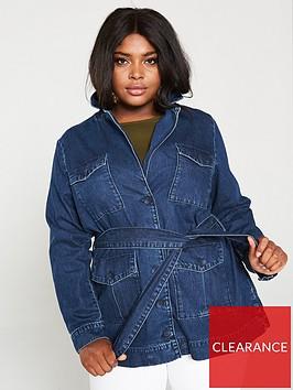 v-by-very-curve-belted-utility-denim-blazer-indigo