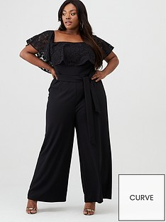 v-by-very-curve-lace-frill-jumpsuit-black
