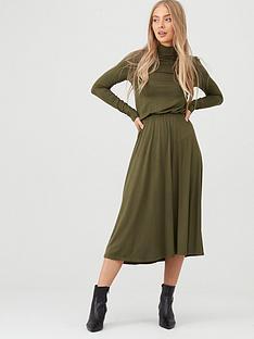 v-by-very-roll-neck-midi-dress-olive