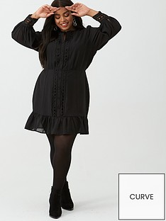 v-by-very-curve-ladder-detail-tunic-dress-black