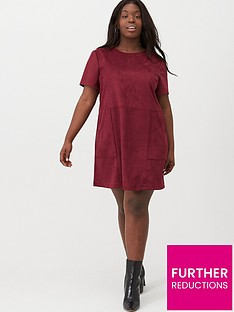 v-by-very-curve-suede-tunic-dress-oxblood