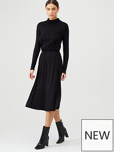 v-by-very-roll-neck-midi-dress-black