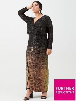 v-by-very-curve-ombre-sequin-maxi-dress-black-bronze