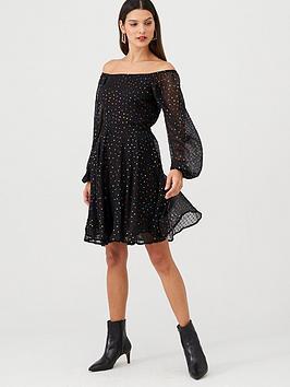v-by-very-metallic-rainbow-spot-mini-dress-black