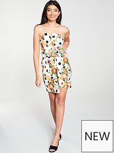 river-island-river-island-printed-strapless-mini-dress-white