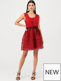 v-by-very-belted-lace-skater-red