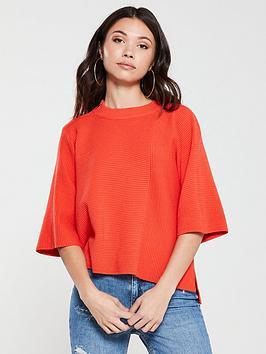 river-island-river-island-knit-batwing-jumper-orange