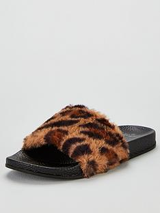 boux-avenue-leopard-faux-fur-sliders-multi