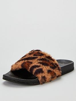 boux-avenue-leopard-faux-fur-sliders-multi