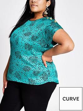 ri-plus-ri-plus-printed-shoulder-detail-woven-top-green