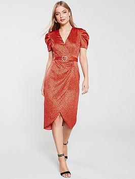 river-island-river-island-printed-midi-tea-dress-red
