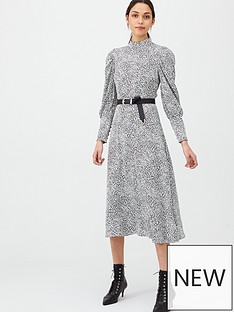 v-by-very-high-neck-blouson-sleeve-midaxi-dress-print