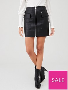 river-island-river-island-faux-leather-mini-skirt-black