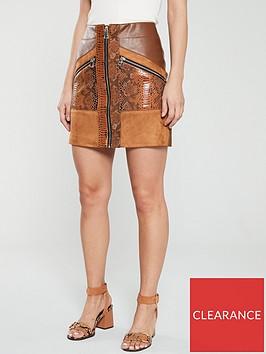 river-island-river-island-animal-print-pu-skirt-brown