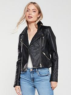 river-island-river-island-faux-leather-biker-jacket-black