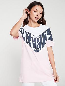river-island-river-island-embellished-slogan-t-shirt-light-pink