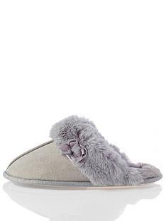 boux-avenue-suedette-cuff-mule-slippers-grey