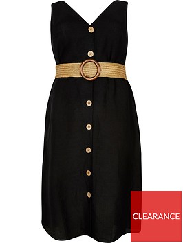 river-island-ri-plus-belted-dress-black