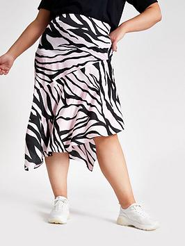 river-island-ri-plus-printed-midi-skirt-pink