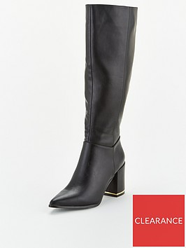 office-klever-knee-high-boot-black